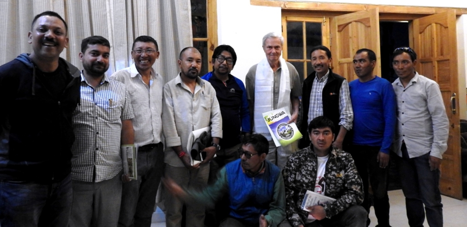 World Renown Sir George Scheller with the Members of WCBCL, Ladakh