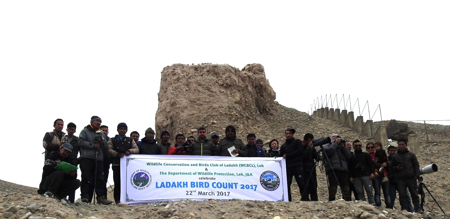 With Wildlife Warden Shri. Pankaj Raina during Ladakh Bird Count 2017, Ladakh